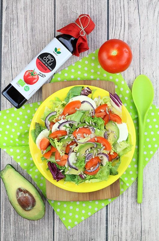 Sałatka Włoska z BIO Olejem Słonecznikowym o Smaku Pomidora