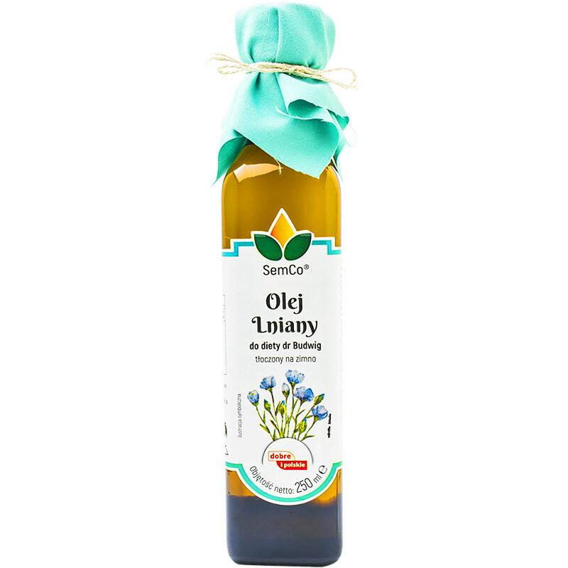 Olej lniany budwigowy - Semco