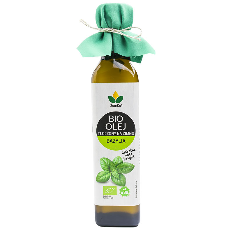 Olej słonecznikowy z naturalnym aromatem bazylii - Semco