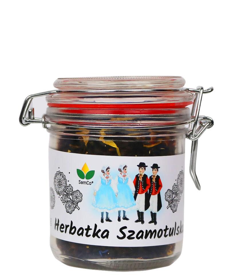Herbatka Szamotulska oczarowuje smakiem wakacyjnego słońca i aromatem dojrzałych w letnim słońcu kwiatów.
