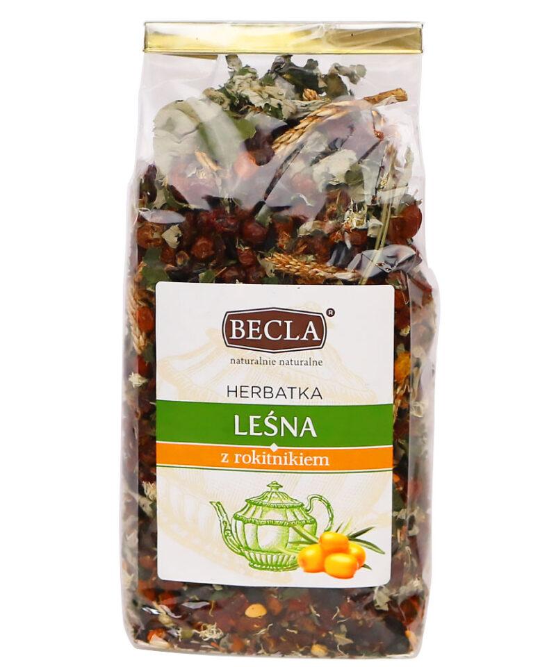 Herbatkę wzbogacono rokitnikiem, który zawiera ponad 190 bioaktywnych substancji, które pozytywnie wpływają na zdrowie.