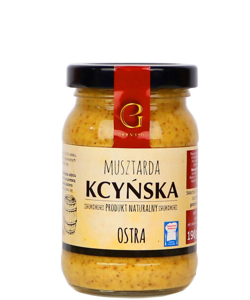 Musztarda kcyńska ostra jest idealna do pikantnych sosów i dipów, a także do wędlin, mięs i serów.