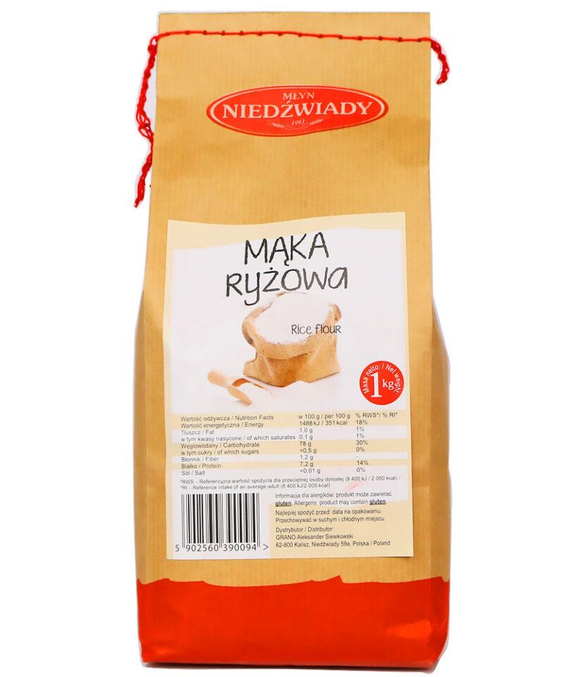 Mąka ryżowa nie zawiera glutenu, jest bezpieczna dla osób nietolerujących tej substancji lub chorujących na celiakię.