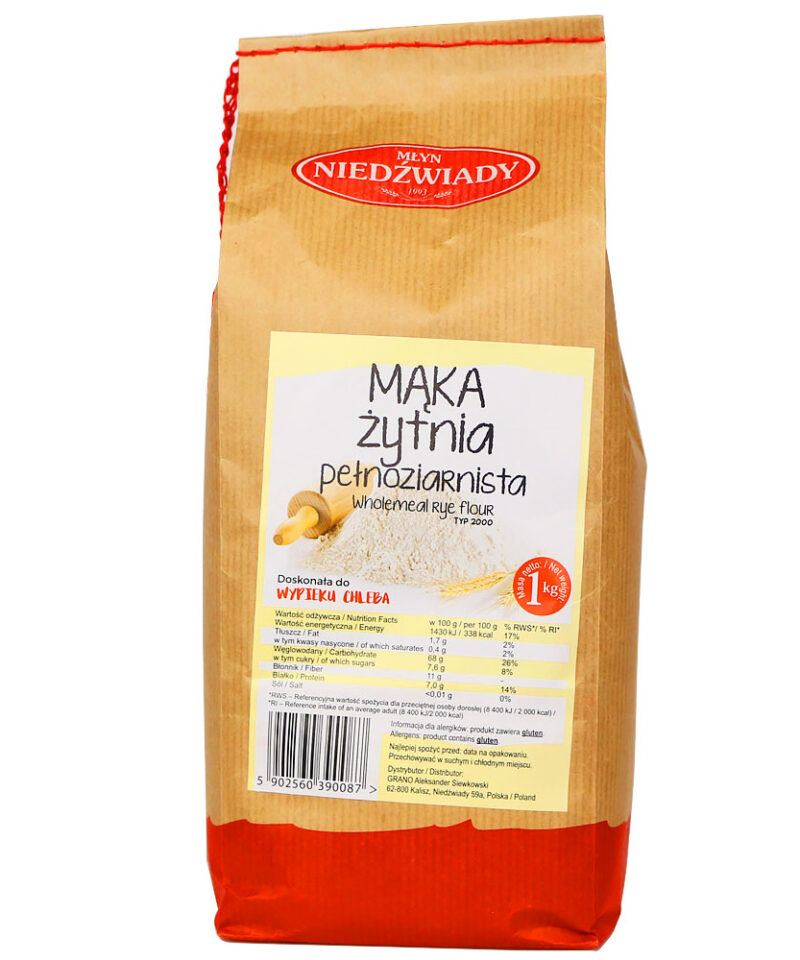 Mąka Żytnia Pełnoziarnista zawiera błonnik, który wspomaga pracę naszych jelit oraz reguluje funkcjonowanie układu trawiennego.